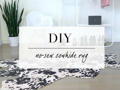 DIY Cowhide inspired Rug | Home Decor | ANN LE
