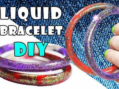 DIY crafts: WATER BRACELETS. DIY LIQUID GLITTER BRACELETS