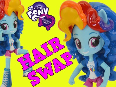 DIY Custom My Little Pony Rainbow Dash Pinkie Pie Hair Swap