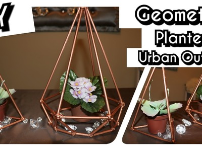 DIY DOLLAR TREE GEOMETRIC PLANTERS SHAPES | Urban Outfitters Inspired | Room Decor