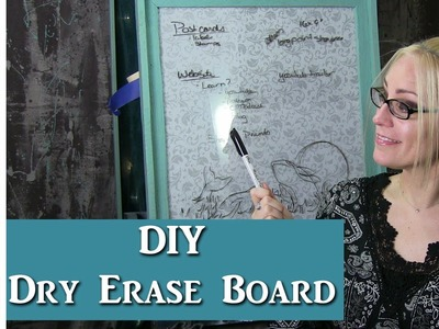 DIY Dry Erase Board for my Art Studio w. Lachri