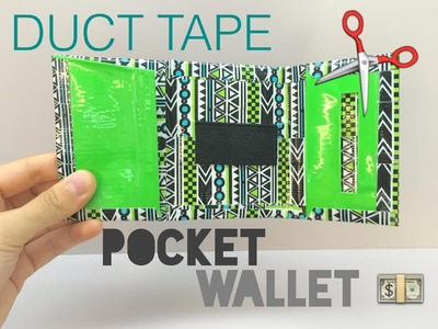 DIY Duct Tape Pocket Wallet Tutorial (ADVANCED)