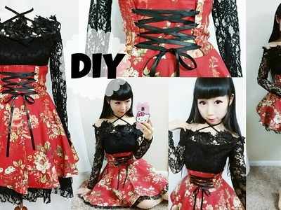 DIY Easy Corset Skirt Outfit & How to Apply Eyelets & Creative Designs
