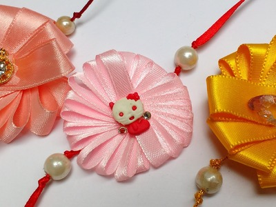 Diy Easy Ribbon Flower Rakhi in 5 Minutes