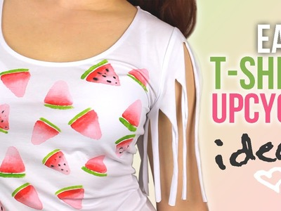 DIY: Easy T-Shirt Upcycle Ideas that are perfect for Summer! | Cutify DIY #2