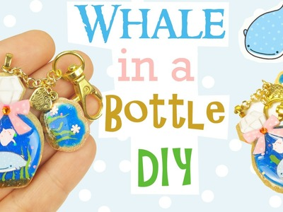 DIY EASY WHALE SHARK IN A BOTTLE Resin & Polymer Clay Tutorial | Jinbei San Sophie & Toffee