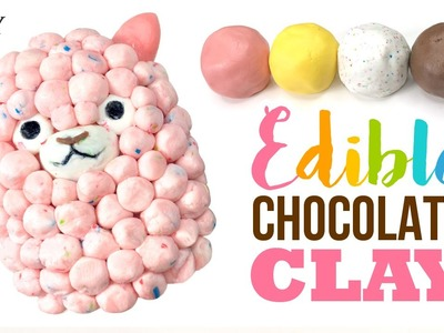DIY EDIBLE Chocolate Clay!! Super Easy 2-Ingredient Recipe!