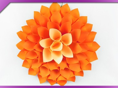 DIY Extra large paper flower, room decoration (ENG Subtitles) - Speed up #236