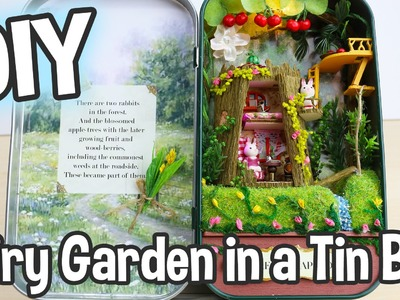 DIY Fairy Garden in a Tin Can Miniature Dollhouse Kit Box Theatre Forest Rhapsody