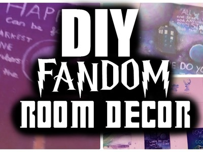 DIY FANDOM ROOM DECOR