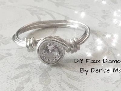"""DIY Faux """"Diamond"""" Ring by Denise Mathew"""
