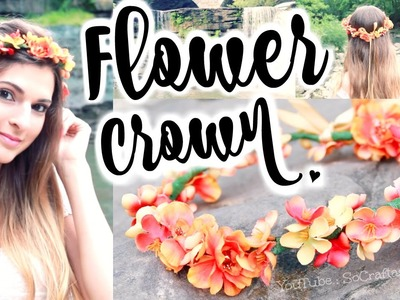 DIY Flower Crown Hair Accessory - How to Make Flower Crowns