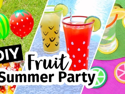 DIY Fruit Theme Summer Backyard Party | Sea Lemon