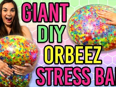 DIY GIANT ORBEEZ STRESS BALL TESTED!!