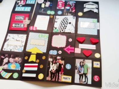 Diy gift maze card in a box handmade