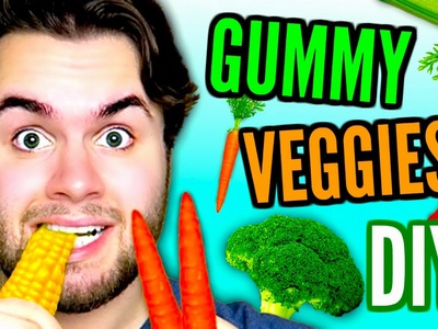 DIY GUMMY VEGGIES | Jelly Corn, Carrots, & Hot Peppers! | Jello Vegetables Candy