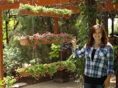 DIY Hanging Rain Gutter Garden. Garden Answer