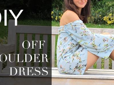 DIY | How to make an off-shoulder dress | Szilvia Bodi