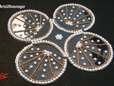 DIY Kundan. Rhinestone Rangoli | How to make | JK Arts 1012