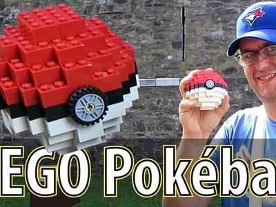 DIY LEGO Pokéball and catching a Pikachu