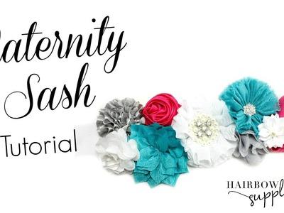 DIY Maternity Sash Tutorial - Hairbow Supplies, Etc.