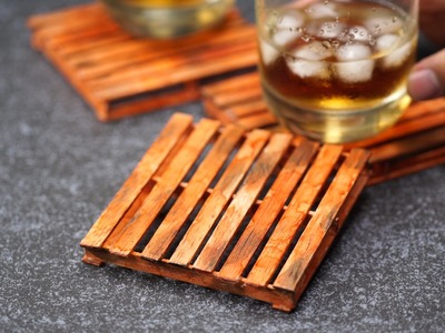 DIY Mini Pallet Coasters