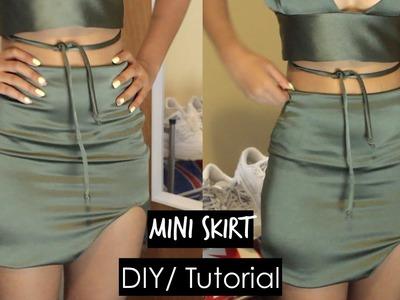 DIY| Mini Skirt|| Bralet & Mini Skirt Set Part 2