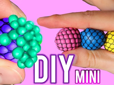 DIY Mini Squishy Mesh Stress Ball! Changes Color Stress Ball!