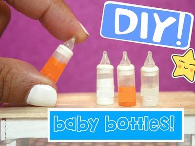 DIY miniature baby bottles EASY Miniatures