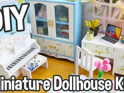 DIY Miniature Dollhouse Kit Cute Room with Working Lights!  Hemiola's Roombox