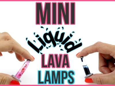 DIY Miniature LIQUID LAVA LAMPS! Orbeez, Lava, Glitter Liquid DIYs!