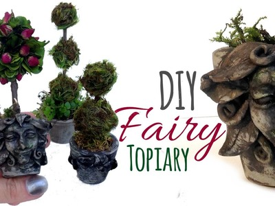 DIY Miniature Pots for Miniature Topiary Trees, Fairy Sized