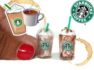 DIY MINIATURE Starbucks (NO POLYMER)
