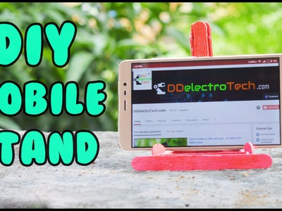 DIY Mobile Stand or HOW TO MAKE a Mobile Phone Stand. Holder from ice cream sticks