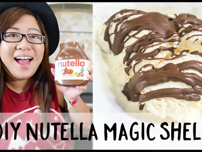 DIY Nutella Magic Shell on Ice Cream!