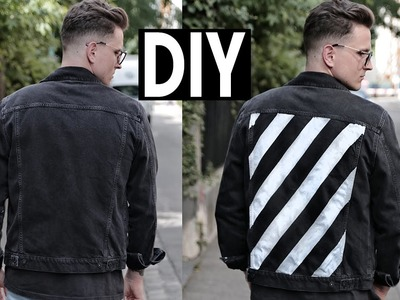 DIY Off-White Denim Jacket Paint by Anderson and Wilson