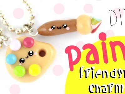 ♡ DIY Paint Friendship Charms!! ♡  | Kawaii Friday