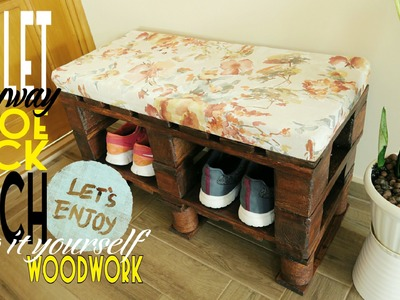 DIY - pallet entry bench-shoerack