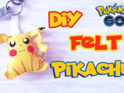 DIY PIKACHU Key Chain - How To Make Felt Pikachu in Pokemon Go Style