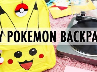 DIY Pikachu Pokemon Go Backpack