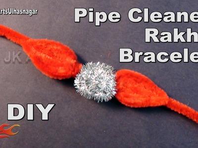 DIY  Pipe Cleaner Rakhi. Bracelet | JK Arts 1033
