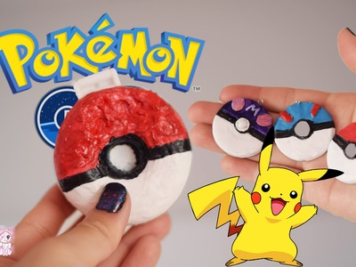 DIY POKEBALL SQUISHY! Pokemon go inspired, and polymer clay pokeball tutorial