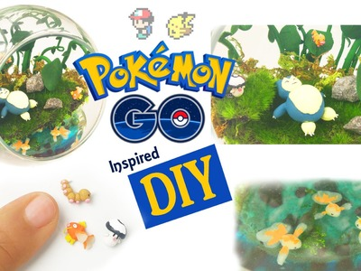 DIY POKEMON GO MINI ENVIRONMENT Resin & Polymer Clay Tutorial - how to make pokemon craft