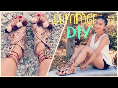 DIY: Pom Pom.Embellished Sandals | Dulce Candy
