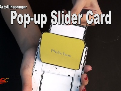 DIY Pop Up Slider Card for Scrapbook | How To Make | JK Arts 1023