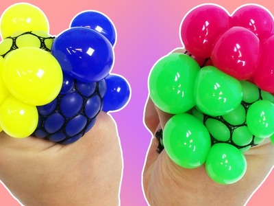 DIY Rainbow Squishy Stress Balls! How To Make Multi Color Slime Stress Balls!