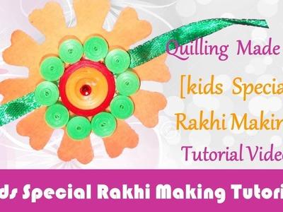 DIY: Rakhi Making - Paper quilling Orange & Green Rakhi video tutorial - Raksha Bandhan Special