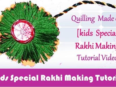 DIY: Rakhi Making - Woolen & Paper Orange & Green Rakhi video tutorial - Raksha Bandhan Special