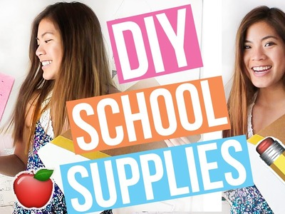 DIY School Supplies for Back to School You NEED to Try 2016-2017!! Cute + Easy || Ariel Alena