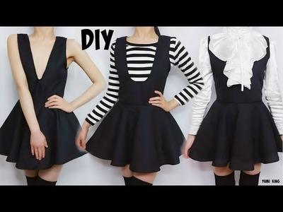 DIY Semiformal Sleeveless V Neck Dress + Easy Pattern Making | DIY  Back to School Outfit